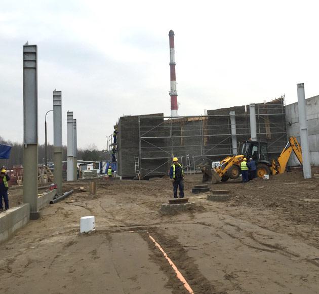 Hala rozładunku żywca w Karczewie